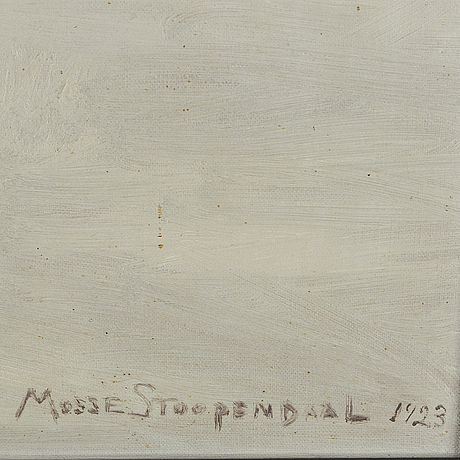 Mosse stoopendaal, oil on canvas, signed and dated 1923.
