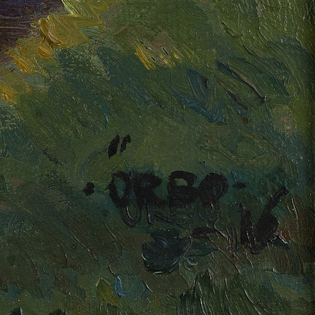 Karl Örbo, oil on canvas, signed and dated -16.