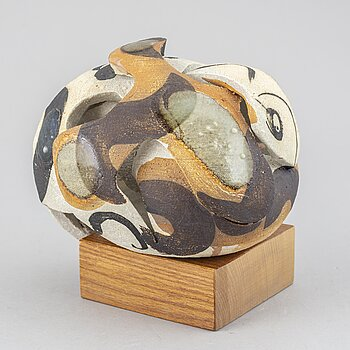 CARL-HARRY STÅLHANE, a unique stoneware sculpture, Rörstrand, Sweden 1960/70's.