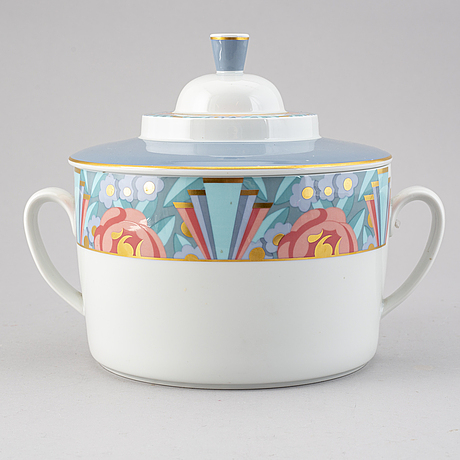 "Heikki orvola, an ""amoroso"" porcelain tureen with cover, rörstrand, sweden."