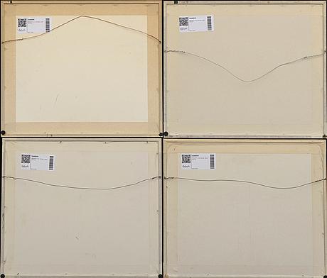 TrÄsnitt, 4 st, shunga, japan 1800-tal.