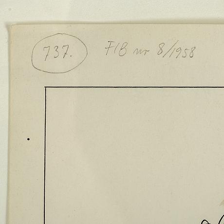 Einar norelius, 2, ink drawings.