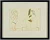 Pablo picasso, after, lithograph in colouirs, dated in print.