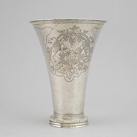 Petter gillberg, varberg silver beaker, varberg  1787.