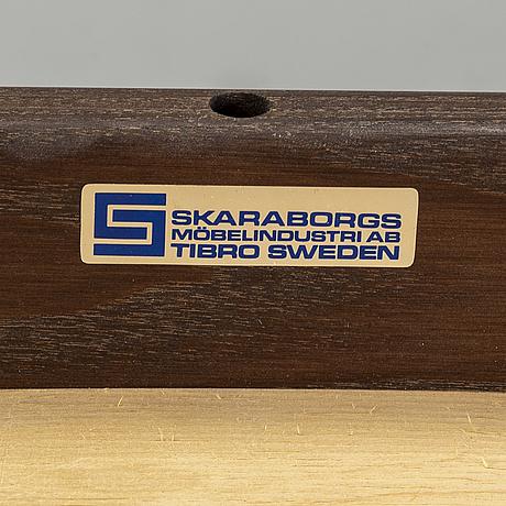 Stolar, 8 st, skaraborgs möbelindustri tibro, 1900-talets andra hälft.