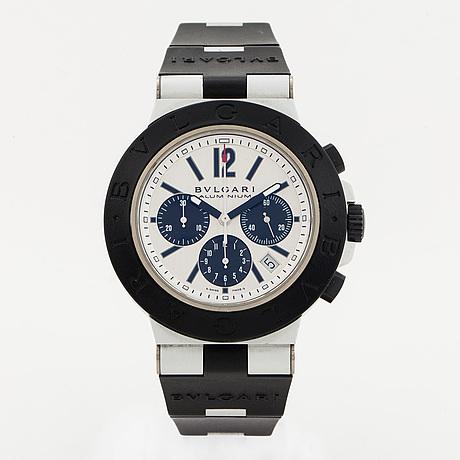 Bvlgari, diagono, chronograph, wristwatch, 42 mm.