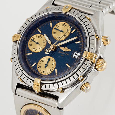 Breitling, chronomat, kronograf, armbandsur, 39 mm.