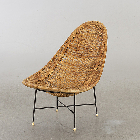 "Kerstin hÖrlin-holmquist, easy chair ""stora kraal"" for nordiska kompaniet triva-serien 1952."