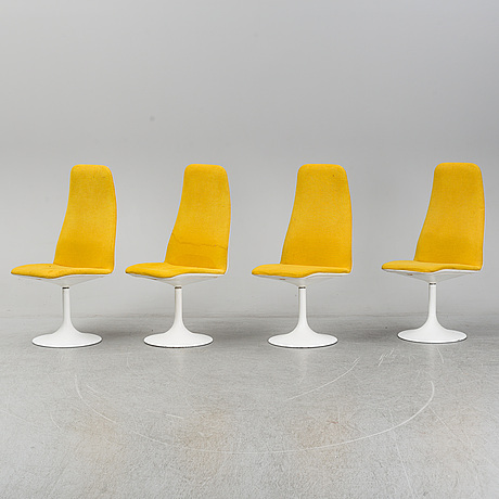 Four chairs by johanson design, markaryd, sweden.