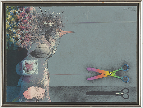 Ardy strÜwer, a colour lithograph, signed and numbered 49/100.