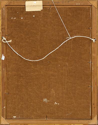 Svante bergh, oil on panel, signed.