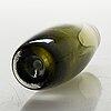 Erkki vesanto, a set of four glass vases. signed.