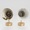 Paavo tynell, a pair of mid-20th century 'a 4' wall lights for idman.