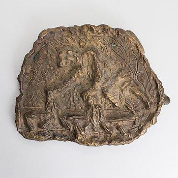 Alpo Jaakola, bronze, signed and dated 1982.