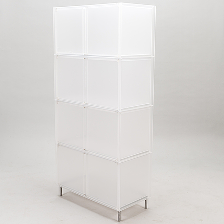 "Four pieces of kartell ""one"" modular storage systems by piero lissoni/patricia urquiola, italy."