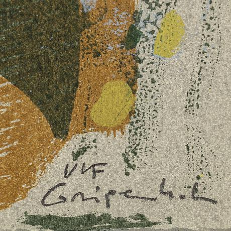Ulf gripenholm, färgserigrafi, signerad, numrerad 50/150.