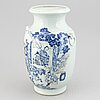A large blue and white and youlihong vase, qing dynasty, 19th century.