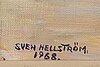 Sven hellstrÖm, olja på duk, signerad och daterad 1968.