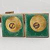 Ljusstakar + kandelaber, gusum, goproduct as, 7 delar, mässing.