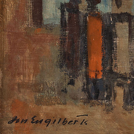 JÓn engilberts, oil on board, signed.