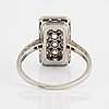 White gold and old-cut diamond ring.