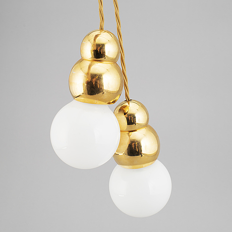 Michael anastassiades, two 'ball lights' ceiling lamps, england, 21st century.
