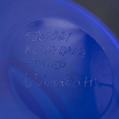 Ulrica hydman-vallien, vas, glas, limited edition, kosta boda.