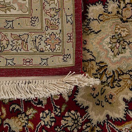A kashmir silk carpet ca 310 x 216 cm.