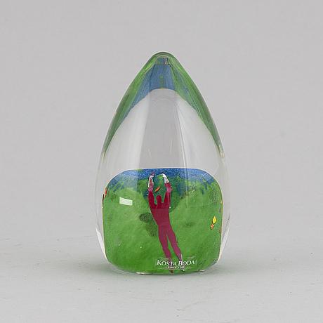 Bertil vallien, a glass sculpture, kosta boda, sweden.