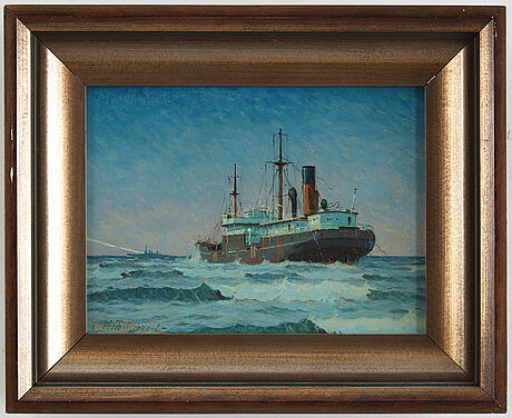 Victor quistorff, oil on panel (2), one signed and dated v quistorff 1940.