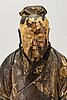 A chinese late qing painted wooden sculpture.
