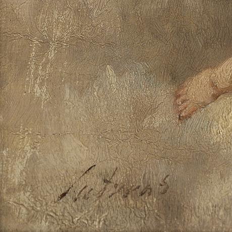 Charles luytens, olja på duk, signerad.