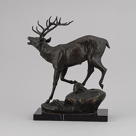 Prosper lecourtier, sculpture, bronze, brown patina. sign. p. lecourtier. foundry mark j.b. deposee bronze garanti paris.