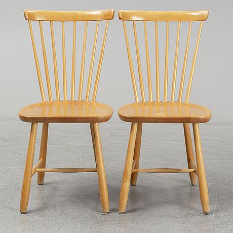 Four 'lilla Åland' chairs by carl malmsten.