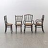 Karmstolar, ett par samt stolar, ett par, fischer och mundus, 1900-talets första del.