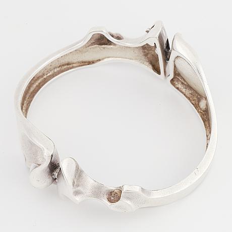 Silver lapponia bangle, 1977.