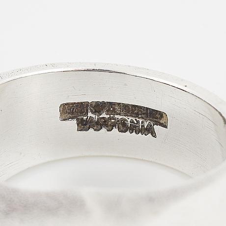"BjÖrn weckstrÖm, ""sirene"", sterlingsilver ring, lapponia 1977."