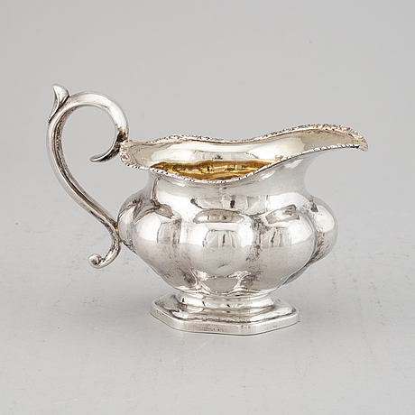 A silver creamer, tallinn/reval, russia 1851.