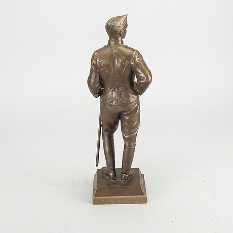 Carl wegener, a signed and dated 1922 bronze sculpture.