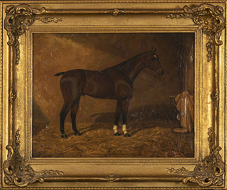 William albert clark, a signed and dated 1913 oilpainting on canvas.