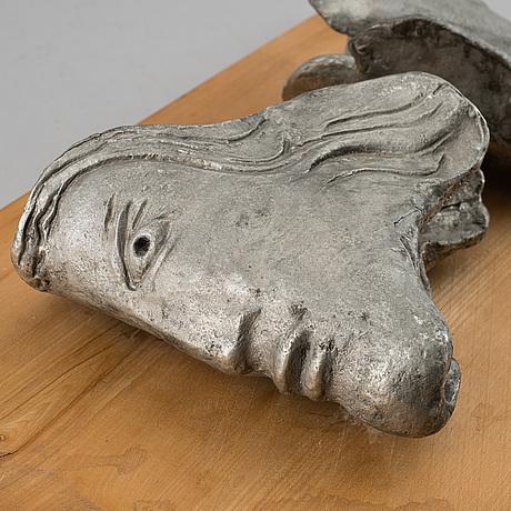 Henrik allert, a metal sculpture, signed.