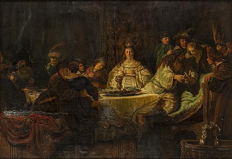 A 20th century copy after rembrandt van rijn by unknown artist.