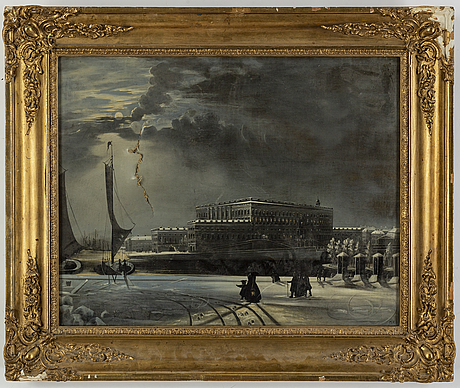 Unknown artis, oil on canvas, signerad pie, the date not visible.