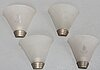 A set of four wall lights from the first half of the 20th century.