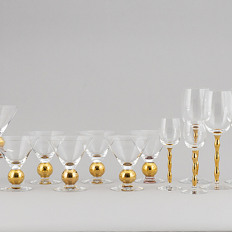 "Gunnar cyrÉn, a part glass service ""nobel"", orrefors."