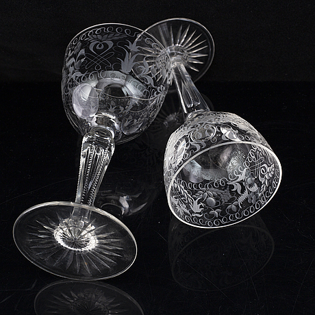 A glass service, 20th century (61 pieces).