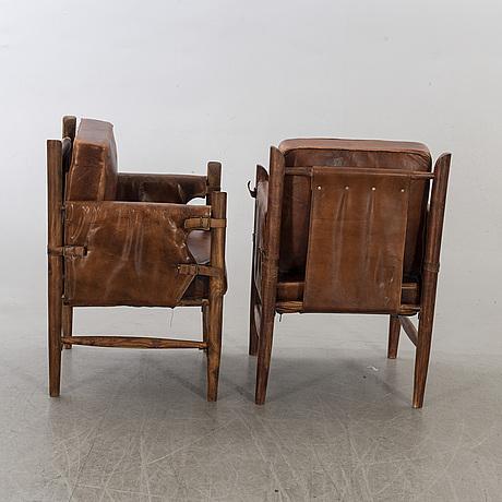 Karmstolar, ett par, 1900-talets senare del.