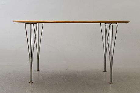 Piet hein och bruno mathsson, matbord, fritz hansen, 2003.
