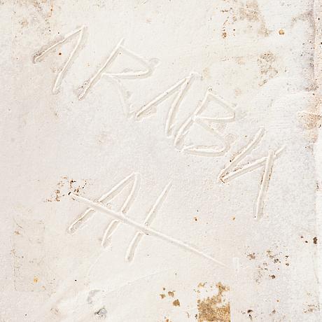Annikki hovisaari, vas, stengods, signerad ah arabia.