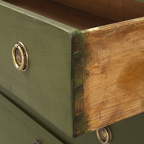 A late 19th century chest of three drawers.